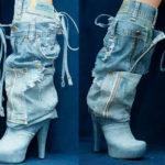 Летние джинсовые сапоги — во-первых, это модно